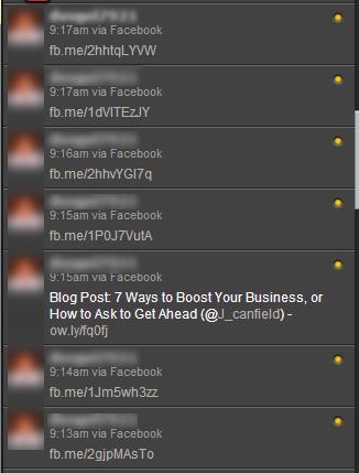 autolinking facebook to twitter example