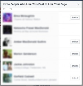 Invite people to like your page