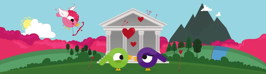 Two social media birds in love