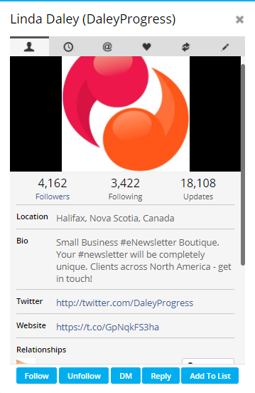 screencap of add to list in Hootsuite