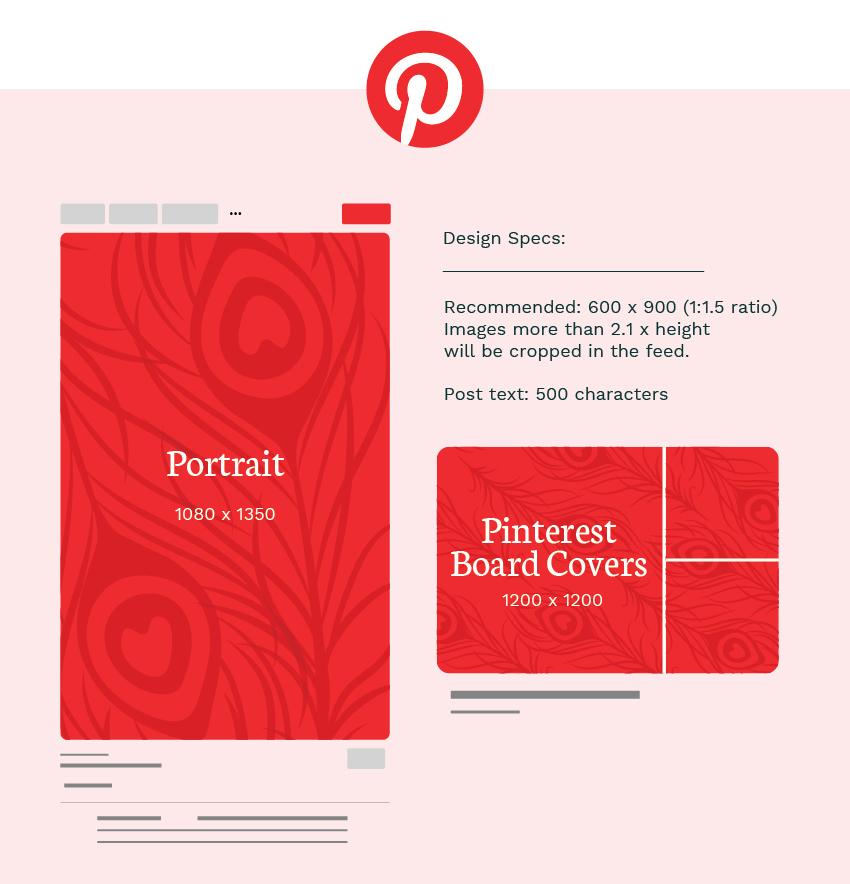 Pinterest image sizes graphic