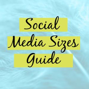 social media image sizes graphic