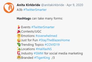 using emojis as bullet points in a tweet
